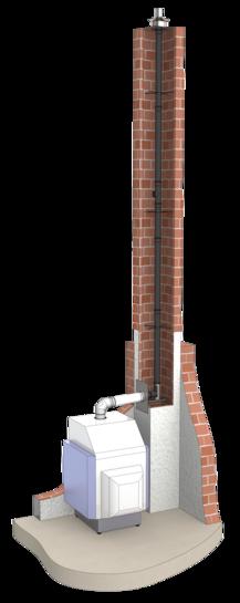Druckdichte einwandige Abgasleitung aus Polypropylen (PP)