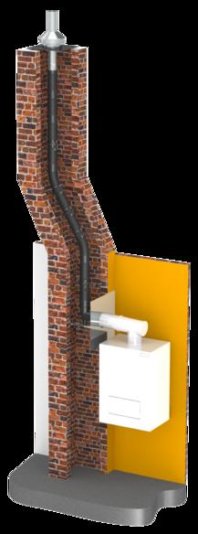 Flexible und druckdichte einwandige Abgasanlage EW-PP-FLEX aus Polypropylen (PP)