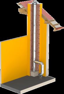 Einwandiger Edelstahlkamin für die Schornsteinsanierung oder als Verbindungsleitung